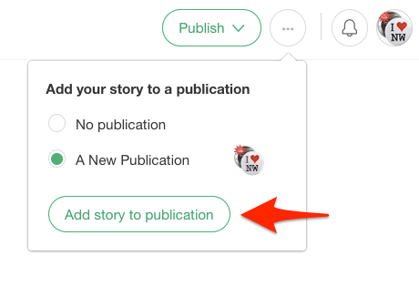 how to add a story to your publication